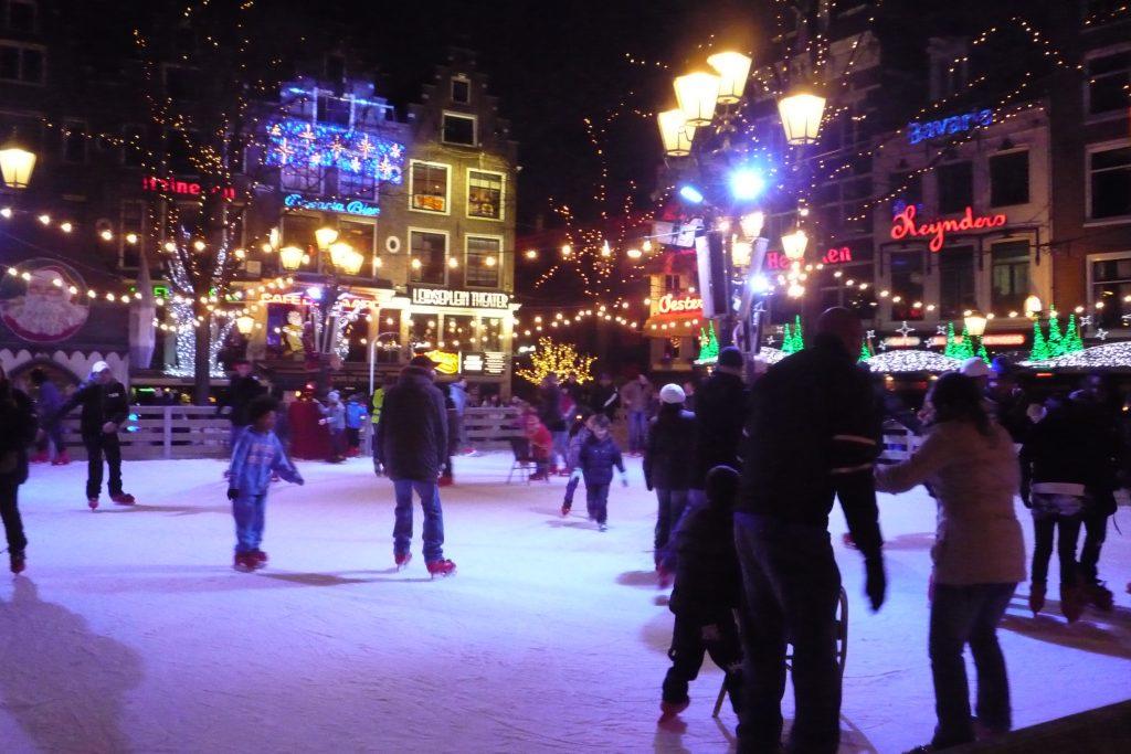 Leidseplein pista su ghiaccio Amsterdam