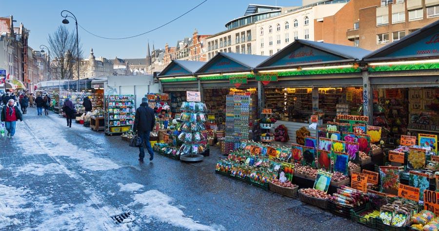 Mercatino di Natale - Mercato dei fiori Amsterdam
